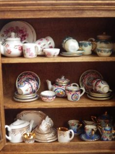 Another of the china cabinets in the butlers pantry of Poppyfield Drive