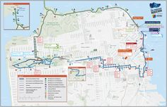 Maps for The San Francisco Marathon by Tim Lillis, via Behance