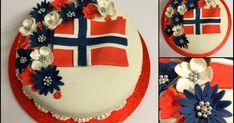 Lukket valnøtt, til vår store feiring av 17. Mai :-) Pynten er lurt å starte med en dag eller to før, da har du mulighet til å tør... 4th Of July Wreath, Norway, Birthday Cake, Baking, Desserts, Beautiful, Celebration, Cakes, Tailgate Desserts