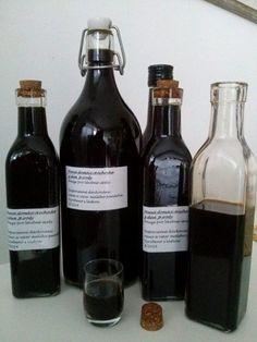Bylinkové likéry a vína | Bylinky pro radost Wine Rack, Drinks, Bottle, Plants, Food, Alcohol, Drinking, Beverages, Flask