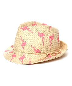 HOLLY CANOLI!!!  Look at this #zulilyfind! Pink & Natural Flamingo Fedora by David & Young #zulilyfinds
