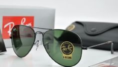 Ray Ban Large Metal Aviator Sunglasses Model 3025 ~ 62mm Lens size ~ Black Color Frame, Ray Ban G15 Toughened Glass Safety Lenses by Ray-Ban. $75.00. Black Frame