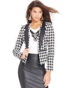 XOXO Juniors' Houndstooth Blazer
