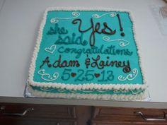 Engagement cake Engagement Cakes, Engagement Ideas, Cake Cookies, Cupcakes, Cookie Decorating, Decorating Ideas, Party Things, Party Cakes, Bridal Shower