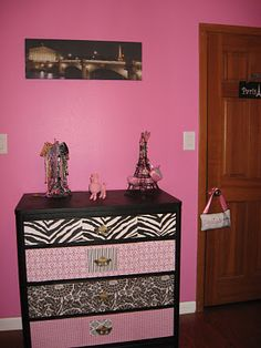 Old to new dresser... Maybe chalkboard paint the drawers, or magnetic paint