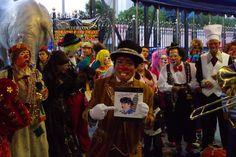 A clown, very passionate fan o David Larible. Circo Nazionale d'Italia, Hnos Fuentes Gasca. Ciudad del Mexico, july 2013