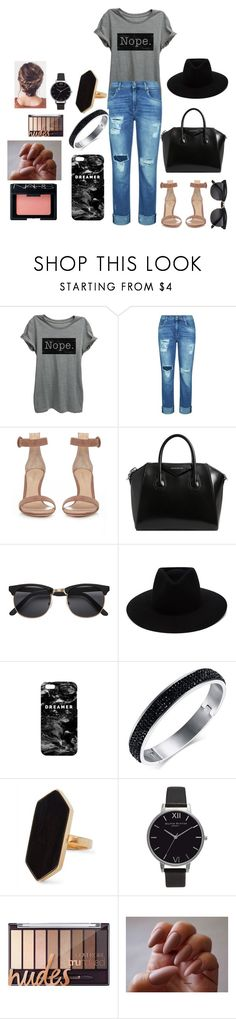 """""""How about no?"""" by meganreighannstinnett ❤ liked on Polyvore featuring 7 For All Mankind, Gianvito Rossi, Givenchy, rag & bone, Mr. Gugu & Miss Go, Jaeger, Olivia Burton, NARS Cosmetics and everydaylook"""