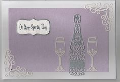 Lilac, silver and white special day card