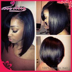 Large Stock!10 inch short lace wigs human hair bob wigs,Brazilian virgin hair short haircut bob wigs glueless lace front human hair wig black