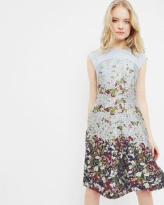 Entangled Enchantment jacquard dress - Dark Blue | Dresses | Ted Baker