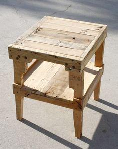 farmhouse table night stand with recycled material