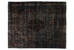 "Overdyed Persian Carpet, 9'9"" x 12'3"""