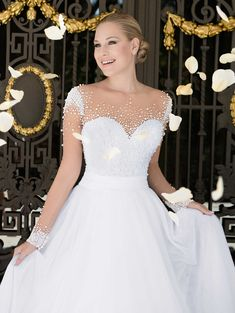 Elegant White Long Sleeve Wedding Gowns Pearls Tulle Country Style Bridal Dresses 2016 A Line Alibaba China Brazil Retail Wedding Dress Sleeves, Long Sleeve Wedding, Dream Wedding Dresses, Bridal Dresses, One Shoulder Wedding Dress, Wedding Gowns, Dresses For Larger Ladies, Bridesmaid Saree, Princess Ball Gowns