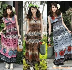>> Click to Buy << Free Shipping Ladies Bohemia National Trend Double V-Neck Full Print Dress #Affiliate