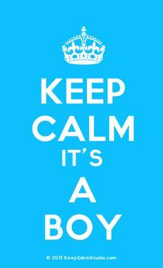 [Crown] Keep Calm It's a Boy
