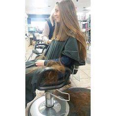 shave off and cut and love hair : Photo Long Hair Cut Short, Very Long Hair, Cut My Hair, Love Hair, Thick Hair Bob Haircut, Forced Haircut, Shaved Hair Women, Brunette Hair Cuts, Waist Length Hair