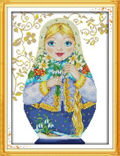 Beautiful Girl Russian doll paintings counted print on canvas DMC 14CT 11CT Chinese Cross Stitch Needlework Sets Embroidery kits-in Cross-Stitch from Home & Garden on Aliexpress.com | Alibaba Group