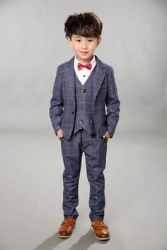 9773e00a554e Boys BlackBlazer 5 pcs/set Wedding Suits for Boy Formal Dress Suit Boys  wedding suit Kid Tuxedos Page boy Outfits 5pieces YL351