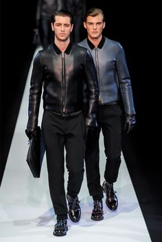 Men's leather jackets for Emporio Armani F/W 2013