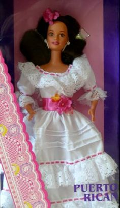 6 LATINA BARBIE DOLLS | ☀Puerto Rico☀ The colorings are Puerto Rican. Latina con pelo bueno!