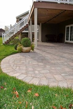 Norland Landscape paver patio1 by slnorland on Flickr.. For under our deck. Maybe build it out to include a fire pit ..??