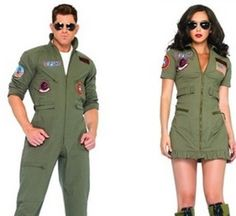 You have found the best Top Gun Couple Costumes for Halloween. The movie, Top Gun, made fly boys and girls even more sexy than they already were. Top Gun couple ...