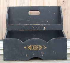 shabby COTTAGE chic VINTAGE  magazine box FRENCH by COTTAGEGOLD, $76.00