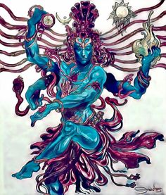 Shiva - Nataraja by tejomaya on DeviantArt Kali Goddess, Goddess Art, Shiva Art, Shiva Shakti, Lord Shiva Family, Shiva Tattoo, Shiva Wallpaper, Nataraja, Indian Art Paintings