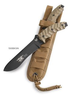 "Benchmade - 150 Marc Lee ""Glory"" Knife -- This knife honors the fearless actions and heroic behavior of petty officer second class Marc Alan Lee, the first Navy Seal to be killed in Iraq since the war began in 2003. -- I love this knife!"