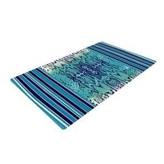 East Urban Home Nina May Snake Blue/Green Area Rug Rug Size: 2' x 3'