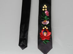 I embroidered this tie with Matyo motif. This is traditional hungarian motif. Great idea for men. The tie length 145 cm in) width 6 cm in) Save on postage with a purchase of more than one item. More Than One, Classic Man, Floral Tie, Folk, Traditional, Handmade, Stuff To Buy, Men
