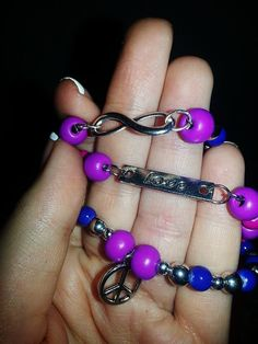 Infinity Love and Peace Bracelet by SpellbindingJewelry on Etsy, $10.00