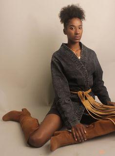 Studio Photography — Marisa M. Male Kimono, Kimono Jacket, Black Denim Jeans, Dark Denim, Fall Jackets, Jackets For Women, Modern Hipster, Japanese Kimono, Kimono Fashion