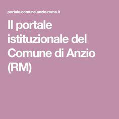 Il portale istituzionale del Comune di Anzio (RM)