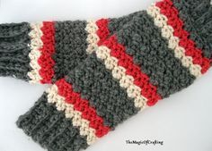 Textured Leg Warmers - free crochet pattern from The Magic Of Crafting