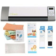 "Silhouette Cameo Electronic Cutting Tool + Silhouette Fabric Blade Blue + 12"" By 24"" Cutting Mat + Accessory Kit"