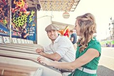 Vintage Carnival Summer Engagement Session With Notebook Vibe | Photograph by Leah Moss Photography  http://www.storyboardwedding.com/small-town-vintage-carnival-summer-engagement-session/