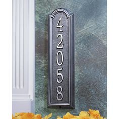 Whitehall Manchester Vertical 1-line Wall Mounted Plaque - 1286ST