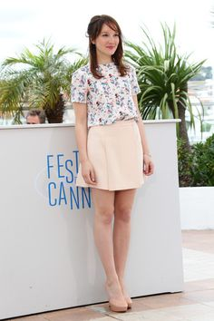 Anais Demoustier attends the 'Bird People' premiere during the 67th Annual Cannes Film Festival on May 19, 2014 in Cannes, France.