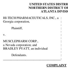 MusclePharm's troubles are so deep, we can't even keep up with all of their ongoing legal problems. Hi-Tech Pharmaceuticals has sued the supplement giant for unfair competition over Iron Mass, but there's a twist: they've personally named Brad Pyatt, founder and former CEO, in the suit. https://blog.priceplow.com/supplement-news/brad-pyatt-musclepharm-lawsuit  This one just feels... a bit personal.