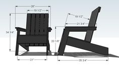 designer adirondack chairs | Diy Modern Adirondack Chair woodworking plans murphy bed diy ideas