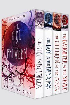 "YA paranormal box set of ""The Girl In Between"" series (author, Laekan Zea Kemp) designed by Najla Qamber Designs."