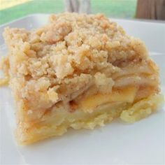 Apple Slab Pie - Allrecipes.com  {It is a roll-out recipe. Sounds simple enough...when I feel like it}