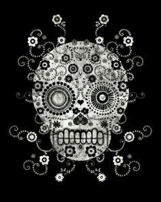 Love Sugar skull art