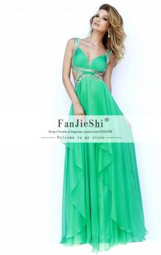 Find More Evening Dresses Information about Custom Made Vestido De Festa Floor Length Spaghetti Strap Sexy V Neck Beading Backless Chiffon A Line Evening Dresses 2015 New,High Quality beaded fringe dress,China dresses 40s Suppliers, Cheap bead connection from Suzhou FanJieShi Wedding Dress Co., Ltd. on Aliexpress.com
