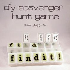 Family Camping Game Ideas | The Crafty Blog Stalker: DIY Scavenger Hunt Find It Game