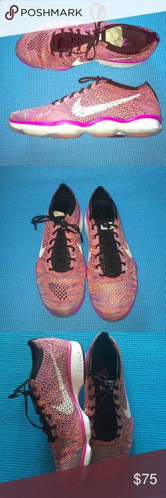 New! Womens Nike Flyknit zoom training shoes Brand New! Never worn womens Nike Flyknit zoom training shoes. Beautiful multicolored.❌no trades ‼️ make an offer 💯 authentic Nike Shoes Athletic Shoes