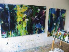 Private Gardens #3 Irises- How Can I Tell You (studio wall) | by caroline havers