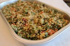 The Dish: Costco's quinoa salad is a great start for lunch. Just cut down on the portion. #food #nutrition