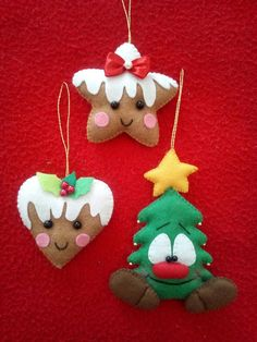 62 Ideas For Felt Christmas Tree Ornaments Xmas Christmas Tree Art, Felt Christmas Decorations, Christmas Ornament Crafts, Christmas Sewing, Felt Ornaments, Felt Crafts, Handmade Christmas, Holiday Crafts, Vintage Christmas